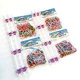 2 x KIT Loom Bands SANS boîte (en loose) - 2 x Métier à Tisser + 800 Elastiques (400 x duo + 400 x multicolore) + 4 Crochets + 48 Clips S - 100% compatible Rainbow Loom, Cra-Z-Loom et autres kits loom