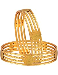 Zeneme Temple Coin Precious Gold Plated Bangles Jewellery For Women And Girls…