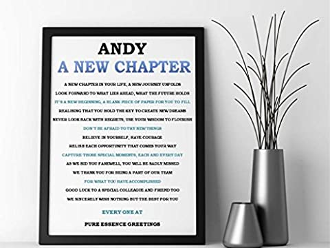 Personalised Inspirational Motivation Good Luck Poem Framed Canvas (A4).New Job, Retirement, Birthday, Christmas, Housewarming, Easter, Special Occasions. Personalised details required during the order process