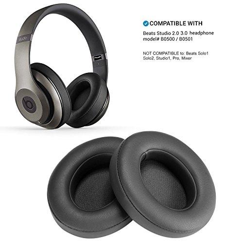 Almohadillas de Repuesto de Titanio para Auriculares Beats Studio 2.0 Wired/Wireless B0500 B0501 y Beats Studio 3.0