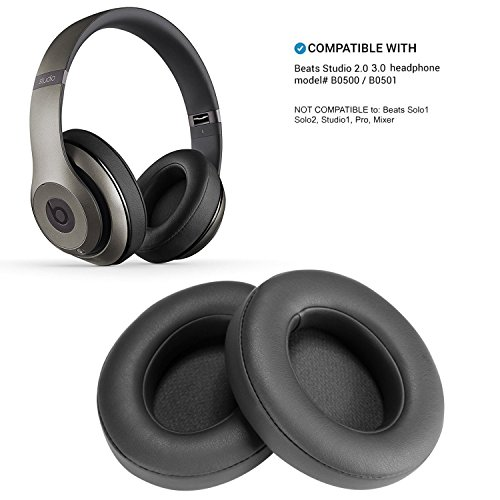 Schiuma Ear Pad Cuscino WADEO 2Pezzi Titanium Cuscinetti di Ricambio Cuffie per Beats Studio 2.0Wired/wireless B0500B0501Headphone & Beats Studio 3.0