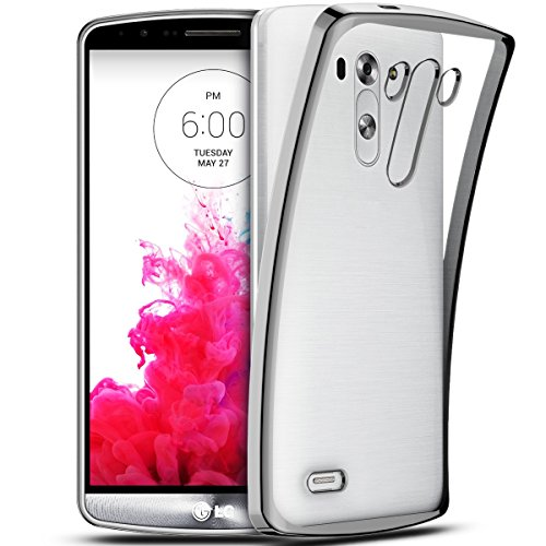 SmartLegend LG G3 Coque Silicone ,LG G3 Etui Clair , LG G3 Housse Silicone Crystal Transparente Ultra Mince Premium Semi - Transparent Shockproof Anti Slip Soft Rubber Back Panel Bumper Fashion Protection Case - Gris - LG G3