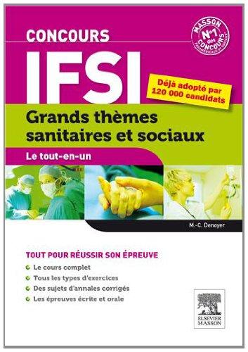 Concours IFSI Grands thèmes sanitaires et sociaux. Le tout-en-un