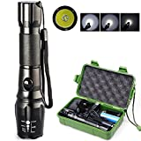 sacredfire CREE T6 5-Mode LED Lamp Light Rechargeable Zoomable Flashlight Torch Free 18650 Battery+Charger