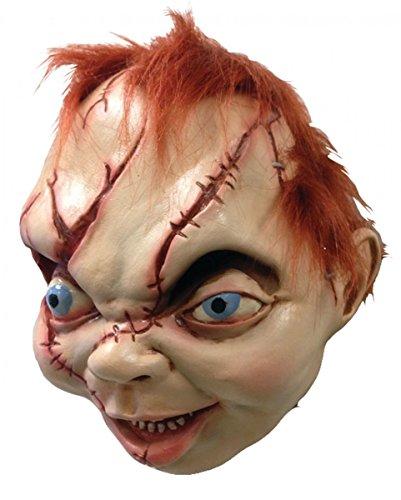 Horror-Shop Lizenzierte Bride of Chucky Wanddeko Trophäe Puppenkopf