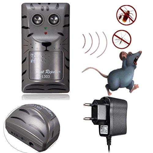 SAFETYON Schädlingsabwehr Ultraschall Gerät Elektronische Ultraschall Schädlingsbekämpfung Schädling Repeller Anti Ratte Mücke Maus Insekt Schutz in Innenräumen gegen Schädlinge EU