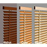 New 165cm Beech / Natural Wood Effect Pvc Venetian Blinds, AVAILABLE IN 10 SIZES AND 4 COLOURS .Buy As Many As Like For A Max Of £4.99 Shipping