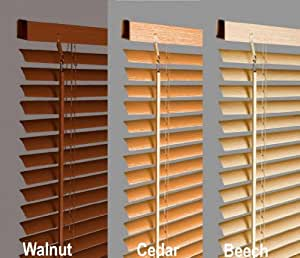New 120cm Beech / Natural Wood Effect Pvc Venetian Blinds, AVAILABLE IN 10 SIZES AND 4 COLOURS .Buy As Many As Like For A Max Of £4.99 Shipping