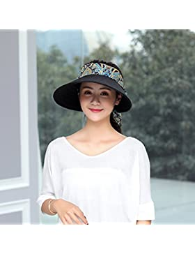 Lady's de verano al aire libre lengua de pato top hat hat seaside beach holiday sombrilla hat SUNCAP,M (56-58cm...