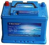 Backup 1250750 Lithium-Eisenphosphat (LiFePo4) Autobatterie, 50 AH, 750 A CCA, 640 Wh, 10 Jahre Lebensdauer.