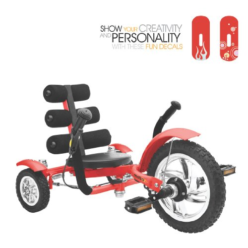 Mobo Mini 3 Wheel Cruiser, rot