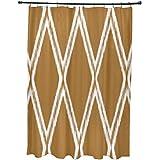 E por diseño Gate Keeper geométrico impresión cortina de ducha, suave color amarillo