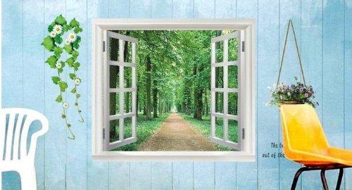 (Wandaufkleber falschen Fenster Wandposter dekoratives Poster)