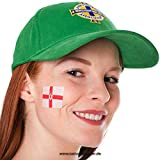 25 x Nordirland Tattoo Fahne Fan Set - EM Fanartikel 2016 - Northern Ireland Flag (25)