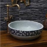 dwthh Chine Artistique Main Lavabo En Céramique LavaboComptoir Rond Salle De...