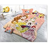 Mad Decor HouseCartoon Printed Baby Bed Sheet With Pillow Cover (Baby Pink)