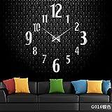 Aemember Wall Mount_Amazon Acryl Spiegel Große Wanduhr Wohnzimmer Silent Clock Diy Wall-Clock, Silber G016