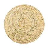 DD Carpet Handgewebte Runde Jute-Teppich - nordischen minimalistischen Wohnzimmer Schlafzimmer Couchtisch Teppich Heimtextilien Home (größe : Diameter 100cm)