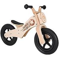Bikestar® Bicicleta sin Pedales Premium de Madera Natural para Mantener la Velocidad, Desde 3 años ★ Edición 12 Chopper ★ Woody Rocker