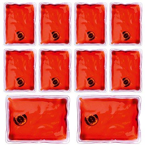 Confezione da 10 gel riutilizzabile dello scaldino della mano Heat Pack - confezioni Riscaldamento istantanea (rettangolo rosso)