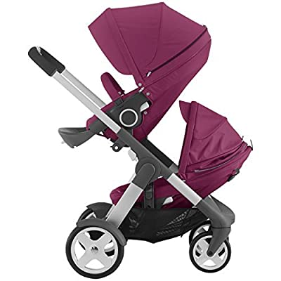 Stokke Crusi Stroller and Sibling Seat (Purple) by Stokke