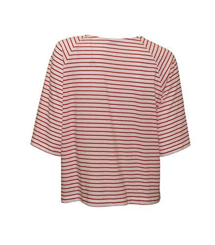IHEART Damen Shirt Cara in Weiß-Rot Geringelt 435 tomato