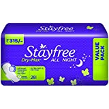 Stayfree Dry-Max All Night Ultra-Thin with Wings - X- Large (28 Pads)