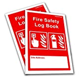 2 x Fire Safety Log Book - Business & Landlord - Checks, Tests & Maintenance Record