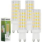 MENGS® 4 Stück G9 10W LED Lampe 64x2835 SMD AC 220-240V Warmweiß 3000K Mit PC Material