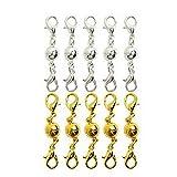 WINOMO Magnetverschluss Kettenverschluss Magnetschließen Schmuckverschlüsse magnetischer Karabiner für Schmuck Halskette