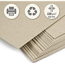 50 hojas papel grueso Cartón reciclado beig kraft claro DIN A4 220 g/m² cm