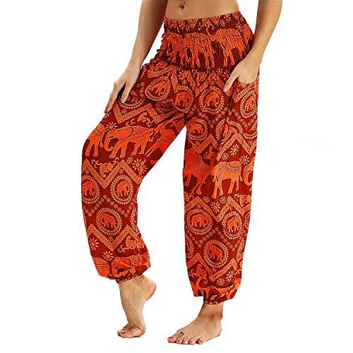 Männer Frauen Thai Harem Hippie Hosen, Boho Hohe Taille Breite Bein Yoga Plus Größe Casual Hosen # 7