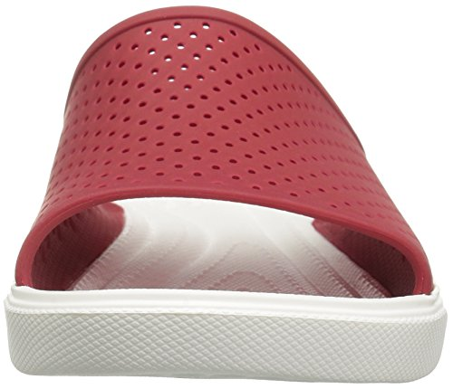 Crocs Citilane Roka, Tongs homme rouge, blanc (Pepper/White)