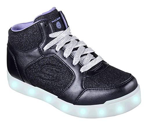 Skechers Mädchen Energy Lights: E-pro Glitter Glow Hohe Sneaker Blau (Navy NVY) 32 EU