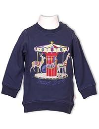 Pezzo Doro Mini M11024 Sweatshirt Shirt Karusell Pferde in navy