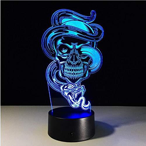 Multi Licht-Nachtlampe des Farbänderungs-USB-Gebühren-Geist-3D LED für Feiertags-Halloween-Dekoration