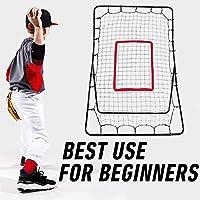 Sports Pitch Return - Rebounder de Béisbol y Entrenador de Fielding - Equipo de Entrenamiento de Béisbol Juvenil - Rebounder de Pitchback Net Net Pitching Throwing Practice Partner para Niños Adultos