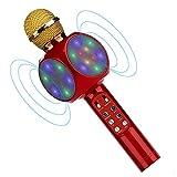 Bluetooth Karaoke Mikrofon, BETECK Tragbares und Drahtloses Mikrofon Musik Spielen und Singen für PC, Laptop, iPhone, iPod, iPad, Android Smartphones und als Party Karaoke Mikrofon (Rot)
