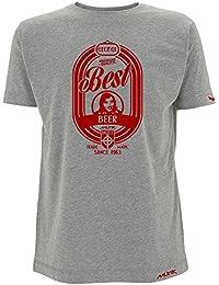 Münk - George Best Beer- Camisetas de diseño retro fútbol vintage - Muñeco recortable gratis