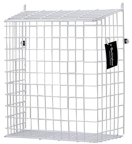 Buckingham 30051Front Tür Buchstabe Käfig, Guard, Korb, Mail-Catcher, Post Box, Briefkasten, vormontiert, weiß (Pvc-boden-boxen)