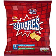 Walkers Squares Variety Multipack Snacks, 6 x 22 g