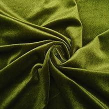 Verde verde oliva terciopelo Tela patrón sólido Arte y artesanía De cortinas de costura 1 YD