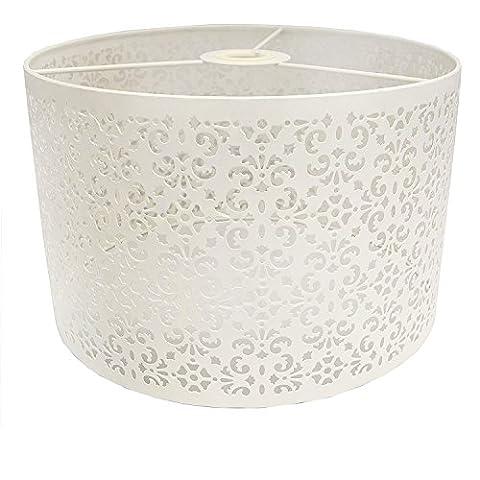 Marakech Metal Pendant Light Shade, 30 cm - White Large
