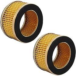Aexit Filtre 2pcs d'élément de compresseur d'air de type piston à diamètre intérieur du diamètre 51mm OD 60mm CN926179L543882J