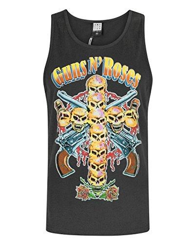 Braun Cami Tank Top (Herren - Amplified Clothing - Guns N Roses - Tank Top (L))