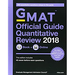 GMAT Official Guide 2018 Quantitative Review: Book + Online (Official Guide for Gmat Quantitative Review)