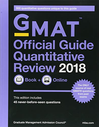 GMAT Official Guide 2018 Quantitative Review: Book + Online (Official Guide for Gmat Quantitative Review) por Graduate Management Admission Council (GMAC)