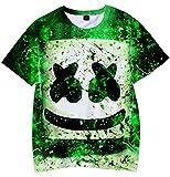 Camiseta para Niños 3D Impresión Gráfica Marshmello DJ Cool Hip Hop Manga Corta(S)