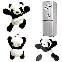 Angelo Morris Panda Magnets Cute Soft Plush Panda Refrigerator Sticker Clip Kids Toys Home Decoration Promotional Gift