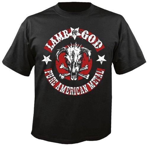 LAMB OF GOD - Pure American Metal - T-Shirt nero 50 / 52